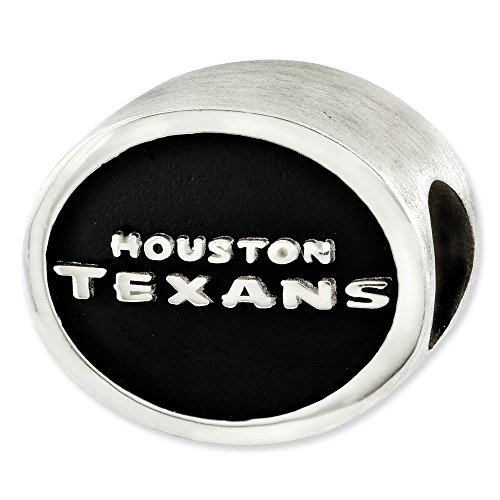 - Mia Diamonds 925 Sterling Silver LogoArt Enameled Houston Texans NFL Bead Charm for Charm Bracelet