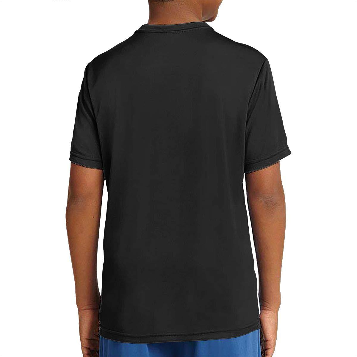 BETHANYJONES Adolescent Boys Girls Short Sleeve Unisex Youth Tees Teenager Tshirt Black
