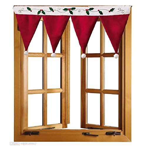 Door Window Drape Panel Christmas Curtain Decorative Home