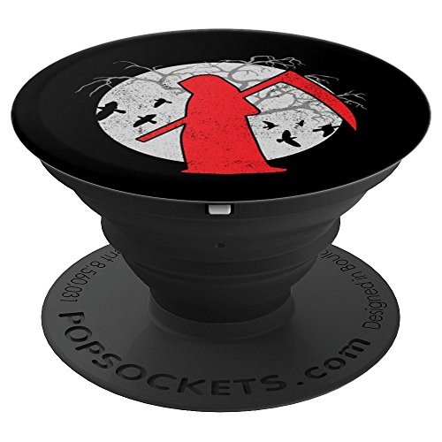 Grim Reaper Full Moon Death Halloween Art - PopSockets Grip and Stand for Phones and Tablets