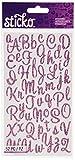 Sticko Sweetheart Pink Script Alphabet Sticker