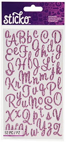Sticko Sweetheart Pink Script Alphabet Sticker -