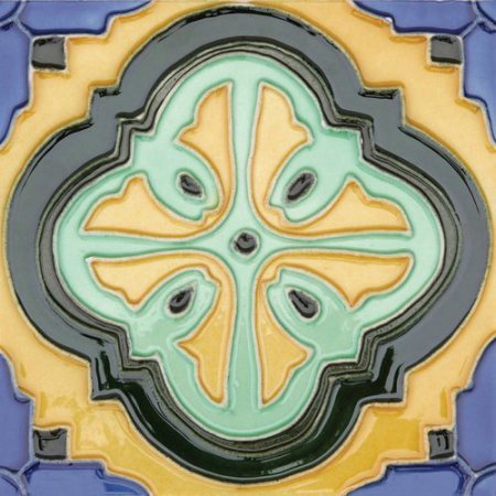 Hand Painted Ceramic Wall Tile - 1