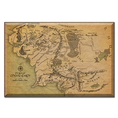 framed canvas lord of the rings middle earth map a1 76 x 51cm 30