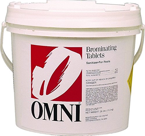 Omni/Nava 1-Inch Swimming Pool and Spa Bromine Solid Tablets (25 Lbs) by Omni/Nava