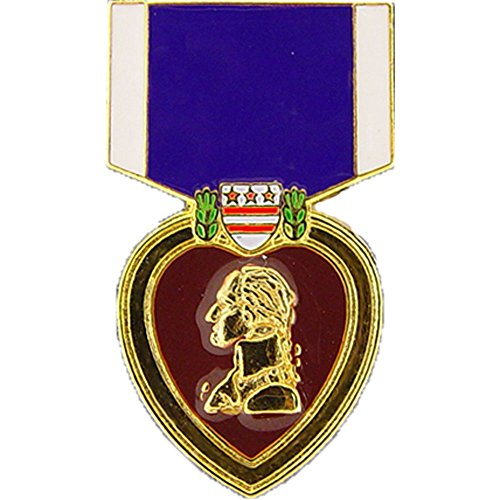 Military Heart Medal (EE, Inc. Purple Heart Medal Pin Military Collectibles for Men Women)