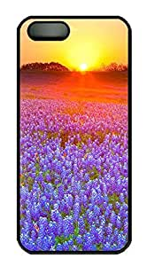 iPhone 5 5S Case The Sunset Purple Flowers PC Custom iPhone 5 5S Case Cover Black by Maris's Diary
