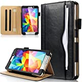 ULAK Galaxy Tab 4 7.0 Case Synthetic Leather Case with Built-In Hand Strap + Media Stand for Samsung Galaxy Tab 4 7.0 (7