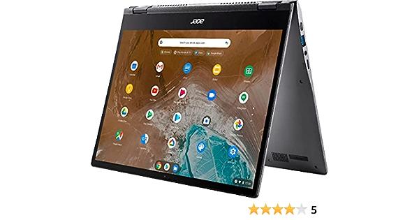 "Acer spin 713 13. 5"" 2k vertiview touch screen chromebook | 10th generation intel core i5-10210u | 8gb ram | 128gb ssd | backlit keyboard | wifi | gray | with 128gb microsd card bundle"
