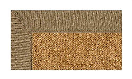 Linon 8 ft. x 5 ft. Athena Rug in Cork with Beige Border -