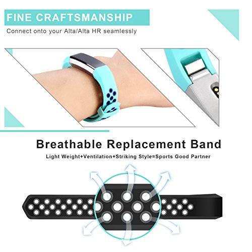 Fitbit Alta HR and Alta Bands,Konikit Newest Adjustable Sport Replacement Accessory Strap for Fitbit Alta (HR) Fitness Wristbands,Small &Large,No tracker