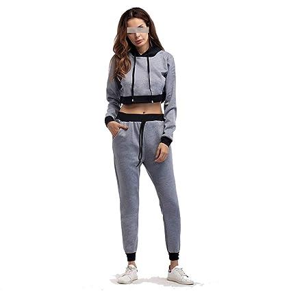 4e670949c5ca AFCITY Costume da Bagno ad Asciugatura Rapida Abbigliamento Sportivo da  Donna con Cappuccio 2 Pezzi Vestito