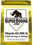 SuperDosing's Bulk Vitamin K2 Powder 1000x 1mg Servings with Scoop. Buy High Strength Wholesale K-2 to Save & Supplement Your Health & Diet Regime. Essential For Strong & Healthy Bones, Joints & Heart