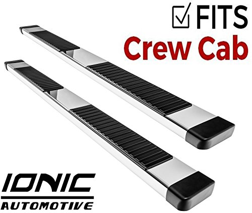 (Ionic 51 Series Brite Running Boards 2015-2018 Chevy Colorado GMC Canyon Crew Cab No ZR2)