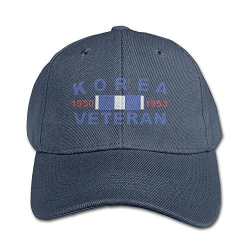 Korea War Veterans Kids Classic Fitted Peak Cap Navy