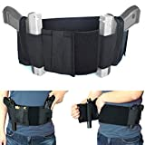 Versatile Belly Band Holster Concealed Carry with Magazine Pocket/Pouch for Women Men Fits Glock, Ruger LCP, M&P Shield, Sig Sauer, Ruger, Kahr, Beretta, 1911, etc