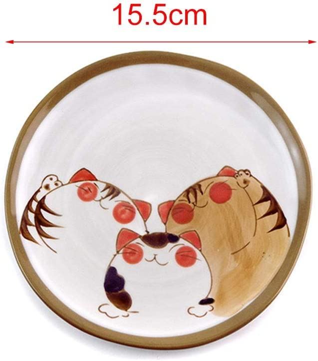 Vajilla De Cerámica Japonesa Cubiertos De Cocina Plato De Ensalada De Frutas Plato De Helado Plato Chino (Color : Beige, Size : 15.5cm): Amazon.es: Hogar