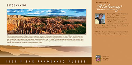 MasterPieces National Parks Panoramic Jigsaw Puzzle, Bryce Canyon, Utah, Photographs by James Blakeway, 1000 Pieces