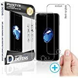 WITKEEN 2PACK iPhone 8 iPhone 7 Tempered Glass Screen Protector with Wider Speaker Cutout - Shatter Resistant Cover, Case Compatible HD Screen Protector Glass for iPhone 8 iPhone 7