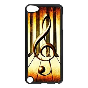 IPod Touch 5th Case,Vintage Music Note Music Symbol Piano Keys Hign Definition Retro Design Cover With Hign Quality Hard Plastic Protection Case