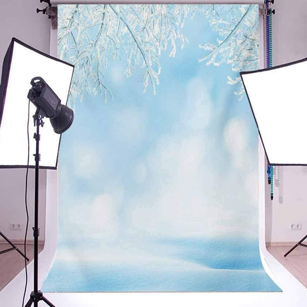 10x12 FT Photo Backdrops,Freezing Nature Snowy Landscape with ICY Tree Branches Hoarfrost Scenic Outdoors Background for Baby Shower Birthday Wedding Bridal Shower Party Decoration Photo Studio