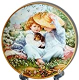 """A Time To Love"" Collector's Plate by Sandra Kuck, from the ""Our Children, Our Future"" March of Dimes Collection"
