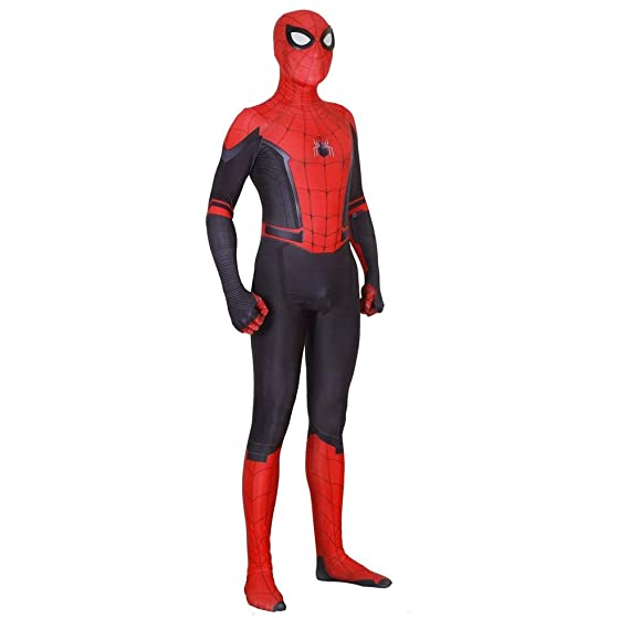 Spider-Man Homecoming Iron Spider Cosplay Costume Lycra Fabric Bodysuit for Boys