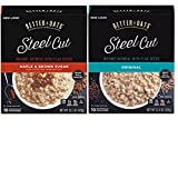 Better Oats Steel Cut Variety Pack with Better Oats Original Flavor Steel Cut Oatmeal and Better Oats Steel Cut Maple & Brown Sugar. Convenient One Stop Shopping. Who Doesnt Love Hot Oatmeal?