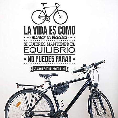 fancjj Calcomanías de Pared en español La Vida es como Andar en Bicicleta Espana Vinilos Decorativos De Bicicletas Vinilo Etiqueta de la Pared Decoración para el hogar 56X42CM: Amazon.es: Hogar