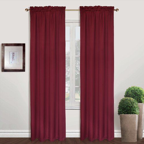 United Curtain Sterling Woven Window Curtain Panel, 40 by 63-Inch, Burgundy