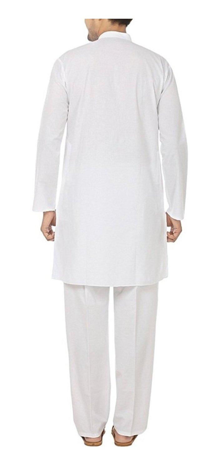 Royal Kurta Men's Fine Cotton Kurta Pyjama Set 46 White by Royal Kurta (Image #2)