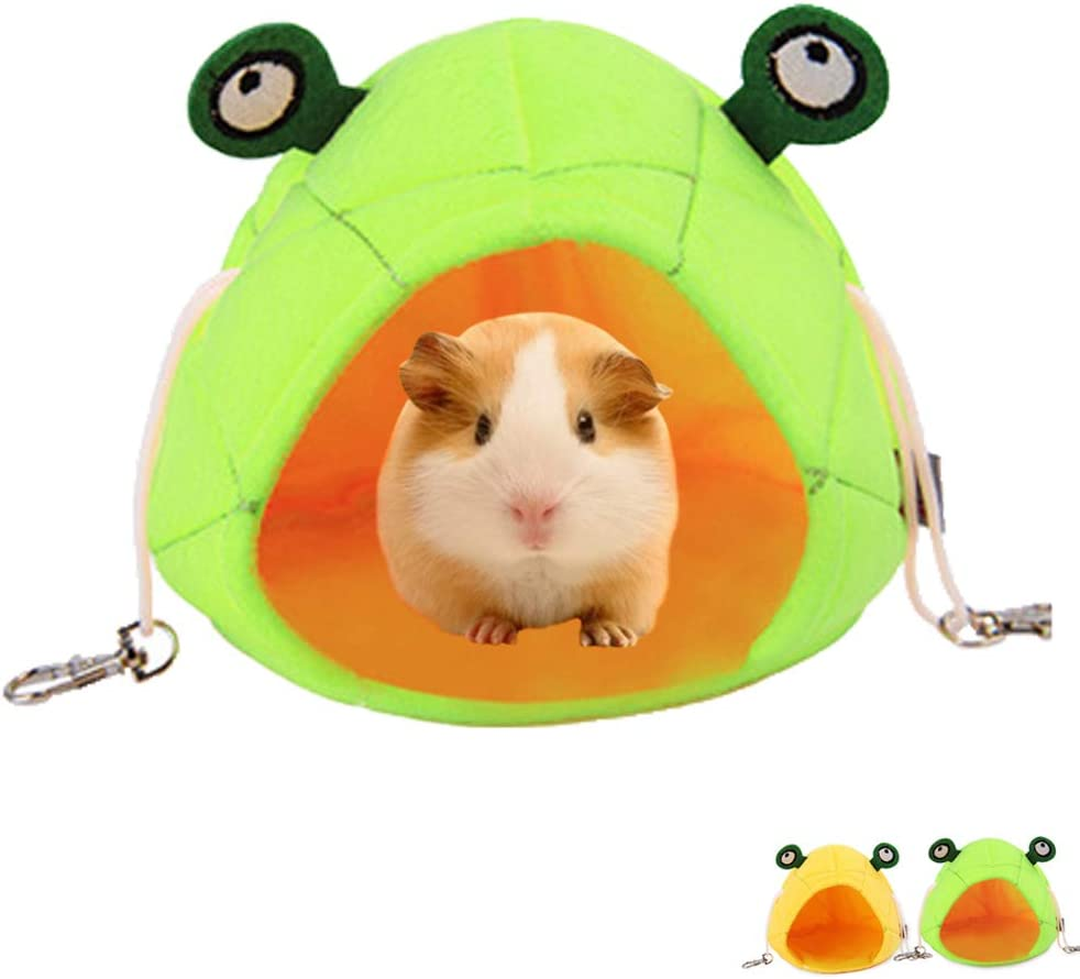 Squirrel Sugar Glider Rat Chinchilla ISMARTEN Hamster Bed House Hamster Bedding Winter Hanging Frog Warm Bed Nest Accessories for Mini Small Animal Mice Hedgehog Guinea Pig