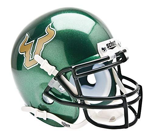 Schutt NCAA South Florida Bulls Mini Authentic XP Football Helmet, Green Alt. 1