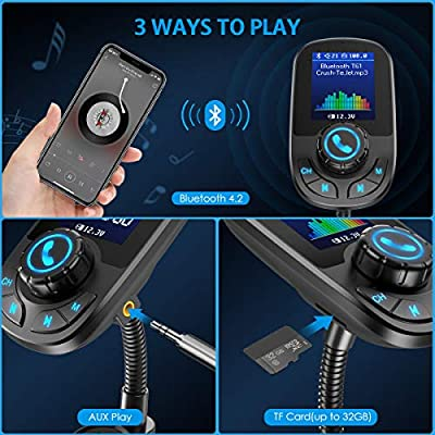 Criacr Bluetooth FM Transmitter for Car, 1.8