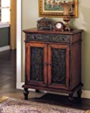 ACME Alameda Cherry Oak and Antique Black Console Table