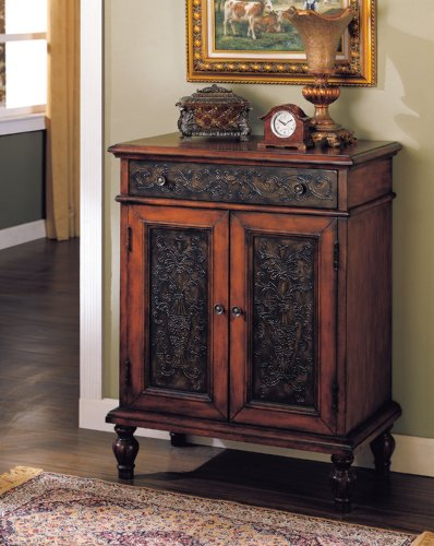 Acme 09203 Alameda Console Table, Cherry Finish