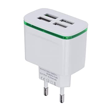 Vanpower Cargador USB 4USB Aligerar 3A Multi-Head Travel ...