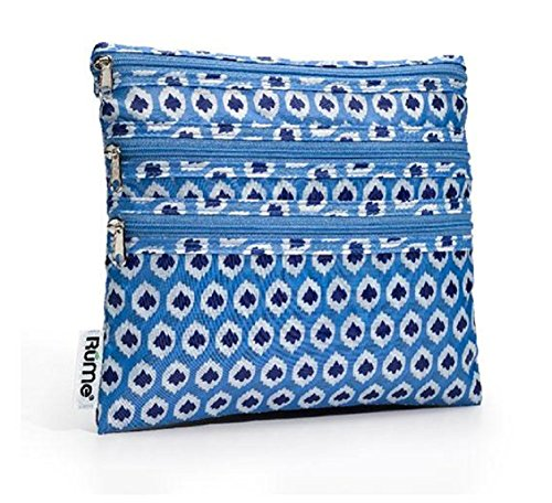 RuMe Bags Baggie All Zippered Organizer - Aqua Ikat by RuMe Bags