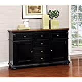 Furniture of America Hendrix Buffet in Cherry and Black