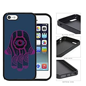 Hamsa Hand Solid Background Series Hard Rubber Cell Phone Case Cover iPhone i5 5s (purple)
