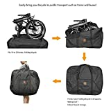 THRLEGBIRD Folding Bicycle Bag, Row Bag, Fits 14 to 20 Inches, Comes with a Dedicated Case for Cars, Airplanes, Air Transportation, Convenient, Durable, Large Storage Bag, Black