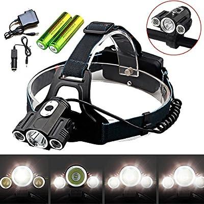 35000LM Bike Front light Led Headlamp headlight 2X Battery+Charger