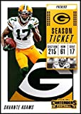 2018 Panini Contenders Season Tickets #64 Davante Adams Green Bay Packers NFL Football Trading Card