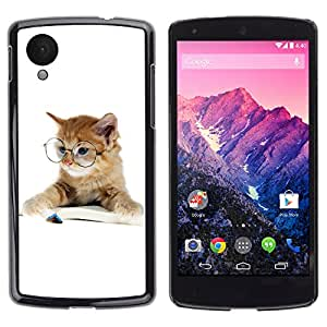 Carcasa Funda Case // V0000942 Cat Kitty Animal Pattern // LG NEXUS 5