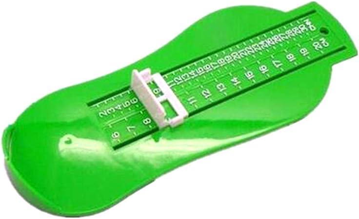 R/ègle de mesure de la taille des chaussures pour b/éb/é 0-20 cm Outil de mesure des pieds Jauge 3 couleurs pour b/éb/é enfant Mesure des chaussures Vert