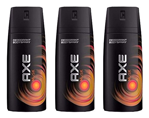 Axe Deodorant Body Spray Musk Mens Fragrance 150ml 5.07oz (3 Pack, Musk)