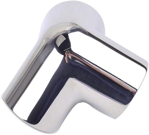 GOFORJUMP Accesorios de riel de Acero Inoxidable Marino para Mano de Barco de 25 mm Codo de Esquina de 3 v/ías de 90 Grados