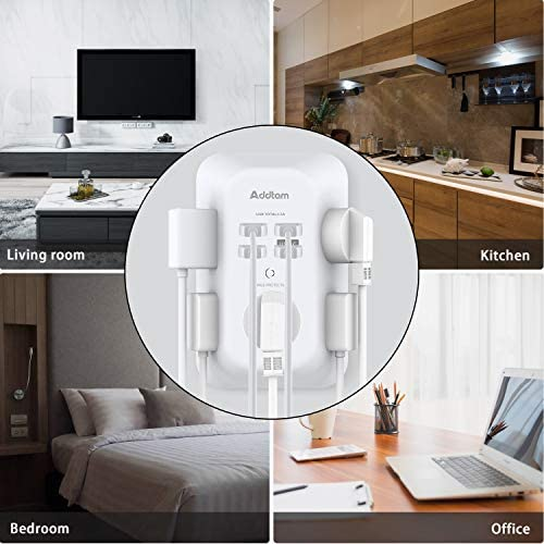 518 NtqjBlL. AC USB Wall Charger, Surge Protector, 5 Outlet Extender with 4 USB Charging Ports ( 1 USB C Outlet) 3-Sided 1800J Power Strip Multi Plug Outlets Wall Adapter Spaced for Home Travel Office, ETL Listed    Product Description