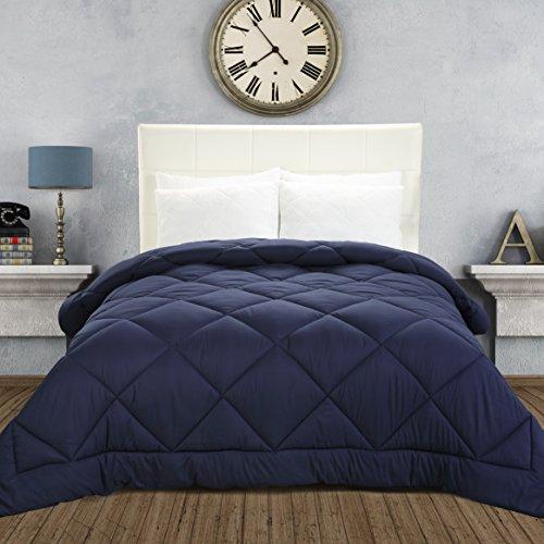 Utopia Bedding Comforter Duvet Insert - Ultra Plush Hypoallergenic, Siliconized fiberfill, Down Alternative Comforter (Twin, Navy)