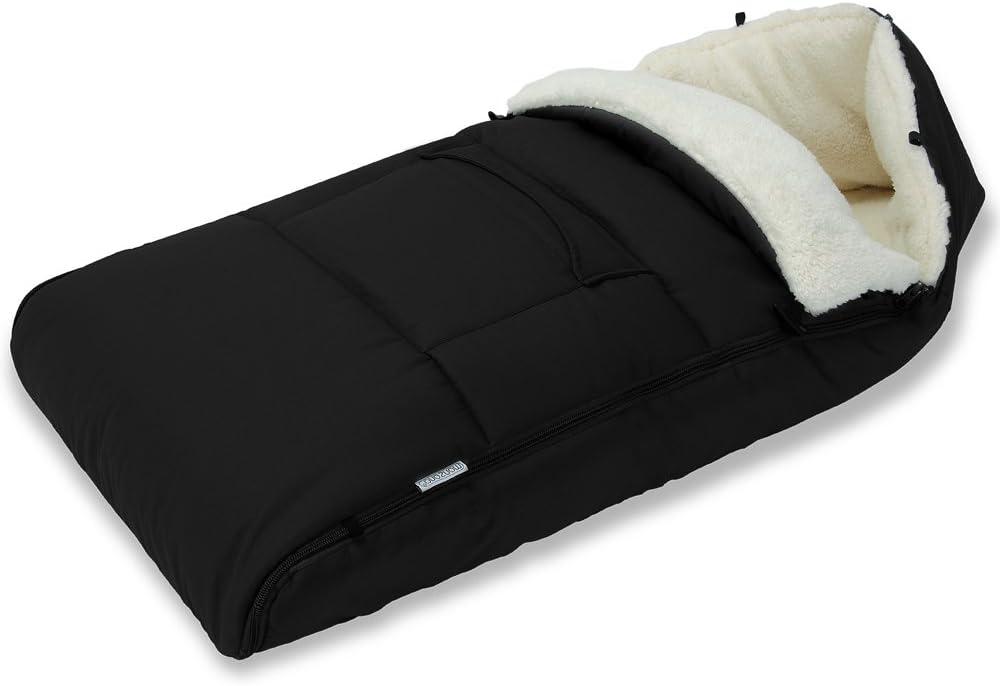 Monzana Saco para bebé Negro envoltura de cochecito para asiento de coche manta 93x56cm abrigo saco de dormir capazo
